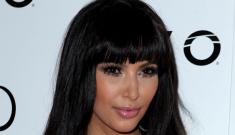 Kim Kardashian had bangs trauma for New Year's: tragic or cute?