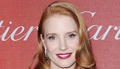 Jessica Chastain in shiny green Prabal Gurung: pretty or busted gift wrap?