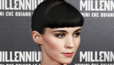 Rooney Mara in red lace Valentino in Rome: very pretty or too frilly?