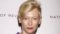 Tilda Swinton actually did her hair & makeup for the NBR Awards: lovely?