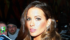 Kate Beckinsale in a tight sequin dress on Letterman: overdone or gorgeous?