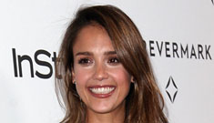 Jessica Alba in leather Valentino: what was she thinking?