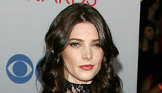 Ashley Greene in leather and lace DKNY: pretty or very dated?
