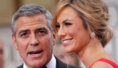 George Clooney let Stacy Keibler speak on the Globes red carpet: good idea?