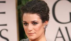 The Glee Girls at the Globes, Lea Michele & Dianna Agron in fussy gowns: who worked it?