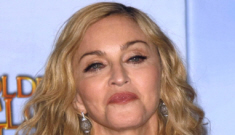 Elton John & David Furnish are really pissed off at Madonna's Golden Globe win