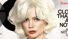 """Michelle Williams goes fragile, weepy and """"sexy"""" for GQ, talks about Heath Ledger"""