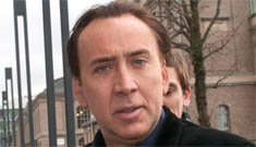 Nicolas Cage, looking cakey while promoting his latest  POS film: would you hit it?