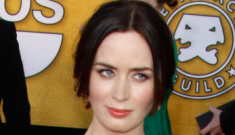 """Emily Blunt shows us why jewel tones aren't always the best idea"" links"