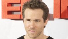 Ryan Reynolds looks less gerbily, less bronzed: Blake Lively's influence?