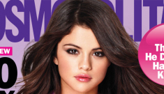 "Selena Gomez covers Cosmo, feels ""fortunate"" to be with Justin Bieber"