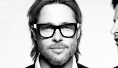 Brad Pitt tapes an appearance on 'Inside the Actor's Studio' with Jonah Hill