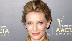 Cate Blanchett in gold McQueen in Sydney: insane perfection or too costume-y?