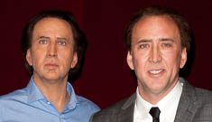 Nicolas Cage's wax statue: incredibly unflattering or good likeness?