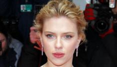 Scarlett Johansson in Calvin Klein in Germany: pretty, thin and tweaked?