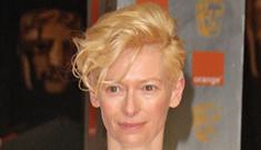 Tilda Swinton in demure Celine at the BAFTAs: lovely   or not her best look?