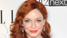 Christina Hendricks wore a 1970s shower curtain at the Elle Style Awards, right?