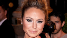 Stacy Keibler at the Marchesa show: how busted and cheap did everyone look?