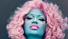 """Nicki Minaj blue'd herself for Vogue Mag, and I like it"" links"