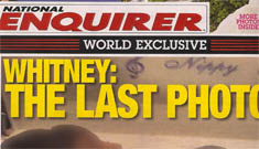 Enquirer's cover image of Whitney Houston in her casket – way too far? (photo blurred)