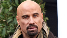John Travolta bald and with a goatee