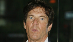 Dennis Quaid's wife left him because Dennis is a drunk with a temper, sources say