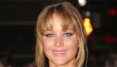 Jennifer Lawrence in gold for 'Hunger Games' London premiere: overworked?