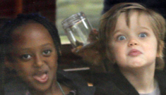 Angelina Jolie, Shiloh & Zahara have fun on a boat in Amsterdam: adorable?