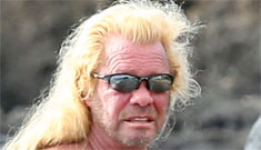 Dog The Bounty Hunter shirtless and wearing a sarong coverup: hilarious?
