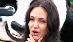 Angelina Jolie just keeps talking about how great her life is