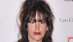 Paz de la Huerta in low-cut black at the Tribeca Gala: busted or simply Paz?