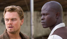 Leonardo DiCaprio saves his costar from a real gunman!
