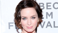 Emily Blunt in pink lace Michael Kors: did Emma Watson already do this look?