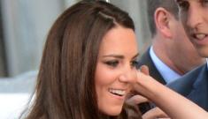 Duchess Kate in pale, jeweled Matthew Williamson: beautiful or familiar?