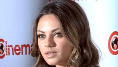"""Mila Kunis still won't admit she's fooling around with Ashton Kutcher: """"It's absurd!"""""""
