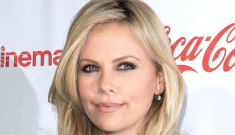 "Charlize Theron wears Dion Lee LBD, jokes about why she's still ""single"""