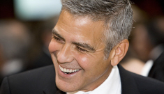 George Clooney flew solo in DC, had a great time: is Stacy Keibler on the way out?