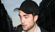 Rob Pattinson celebrates his 26th birthday with a very pregnant Sienna Miller
