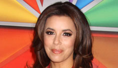 Eva Longoria and Anne Heche at the NBC upfronts: bad backdrop, cute outfits?