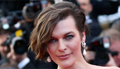 Milla Jovovich in lilac at 'On the Road' Cannes premiere: sloppy or gorgeous?