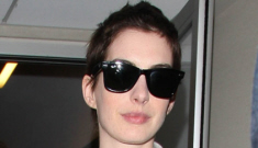 Anne Hathaway arrives in NYC as her ex-fiancé Raffaello Follieri is deported