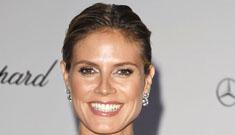 Heidi Klum in see through Marchesa at the amfAR gala: bad bridal lingerie?