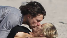 Sharon Stone, 54, makes out with her 27 year-old model boyfriend. Go Sharon?