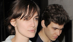 Keira Knightley shows off her 2-carat, $40K diamond engagement ring in London