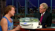 Richard Simmons' steamer catches fire on Letterman