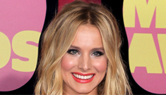 Kristen Bell in gold Reem Acra at the CMT awards: try hard or gorgeous?