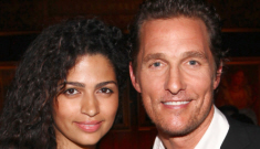 Matthew McConaughey & Camila Alves had a hush-hush wedding in Texas last night