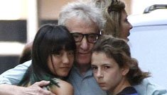 Woody Allen out with his daughters: creepy or normal loving dad?