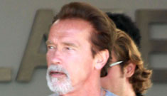 Arnold Schwarzenegger's new silver goatee: hot or hell no?