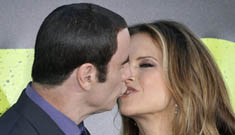 John Travolta & Kelly Preston go overboard with the PDA at 'Savages' premiere